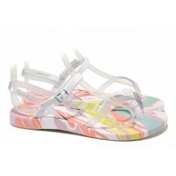 Анатомични бразилски сандали, свежа цветова комбинация / Ipanema 82891 бял-розов / MES.BG