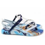 Дамски бразилски сандали с удобно закопчаване, анатомични / Ipanema 82891 син / MES.BG