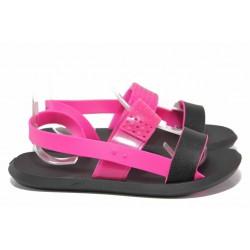 Дамски сандали, анатомични, гъвкави, за Н крак / Rider 83010 черен-розов / MES.BG