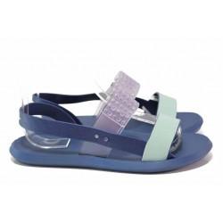 Дамски сандали, подходящи за Н крак, анатомични, леки / Rider 83010 син-зелен / MES.BG