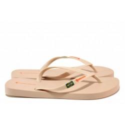 Дамски чехли, гъвкави, леки, лента между пръстите / Copacabana 82790 св.розов / MES.BG