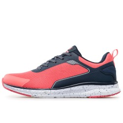 Олекотен модел текстилни дамски маратонки / Bull 201028 розов-син / MES.BG