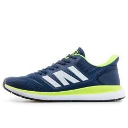 Мъжки ''дишащи'' маратонки с олекотено ходило / Bull 201035 син-зелен неон / MES.BG