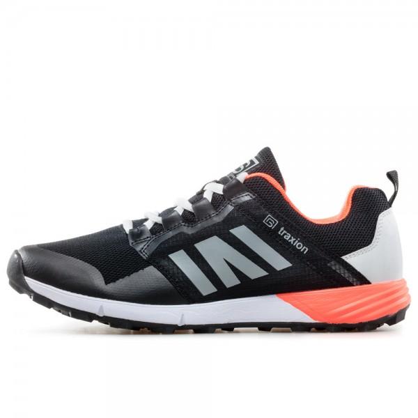 Мъжки ''дишащи'' маратонки с мека и гъвкава подметка / Bull 201038 черен-оранжев / MES.BG