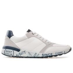 Модерни мъжки маратонки с удобна олекотена подметка / Bull 201072 бял / MES.BG