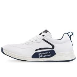 Олекотен модел мъжки маратонки с връзки / Bull 201077 бял / MES.BG