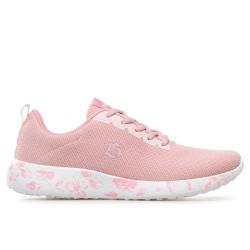 Олекотен модел дамски маратонки от ''дишаща'' материя / Bull 21010 розов-бял / MES.BG