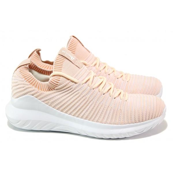 Атрактивни дамски маратонки, олекотени, гъвкави, дишащи / АБ ES 06-19 розов / MES.BG