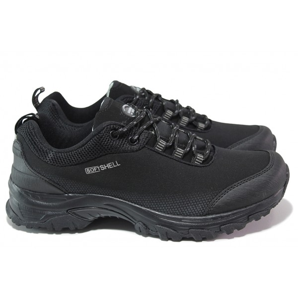 Водоустойчиви мъжки маратонки, леки, протектор, изчистени / АБ WT 04-21 черен / MES.BG