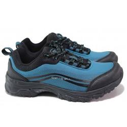 Юношески водоустойчиви маратонки със SoftShell мембрана / АБ WT 12-21 син / MES.BG