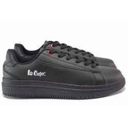 Мъжки анатомични спортни обувки с връзки, шито ходило / Lee Cooper 902-05 черен / MES.BG