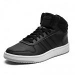 Високи мъжки кецове, еко-кожа, гъвкави, оригинални / Adidas HOOPS 2.0 MID EE7379 / MES.BG