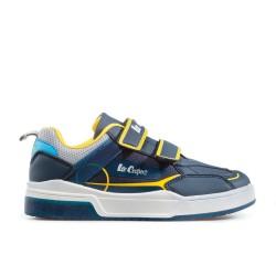 Комфортни детски маратонки с функционални велкро лепенки / Bull Lee Cooper 902-02 син-жълт / MES.BG