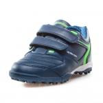 Детски футболни маратонки с велкро лепенки / Bull Outdoor 19-2 син / MES.BG