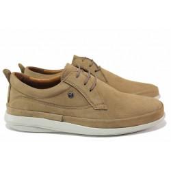 Анатомични мъжки обувки, леки и удобни, естествен набук / МИ 101 кум / MES.BG