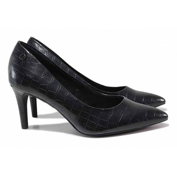 """Стилни дамски обувки с """"мемори"""" пяна / S.Oliver 5-22403-35 черен кроко / MES.BG"""
