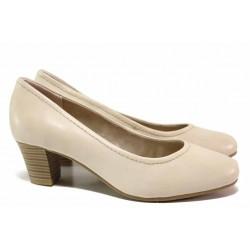Стилни дамски обувки, естествена кожа, леки, гъвкави / Jana 8-22450-26H бежов / MES.BG
