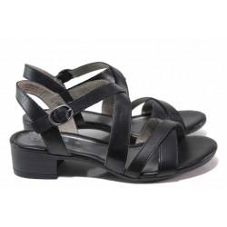 Анатомични немски сандали, подходящи за широк крак, естествена кожа / Jana 8-28256-26 черен / MES.BG