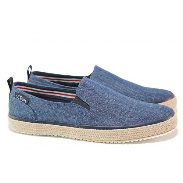 Спортни немски обувки с мека и комфортна стелка, дишаща материя / S.Oliver 5-14606-26 син джинс / MES.BG