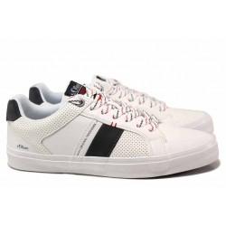 Немски мъжки спортни обувки с изваждаща се стелка и ''мемори'' пяна / S.Oliver 5-13600-36 бял / MES.BG