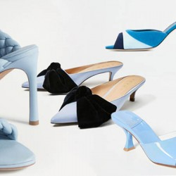 Обувки за тъмносиня рокля