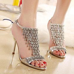 Как да носим обувки с блясък