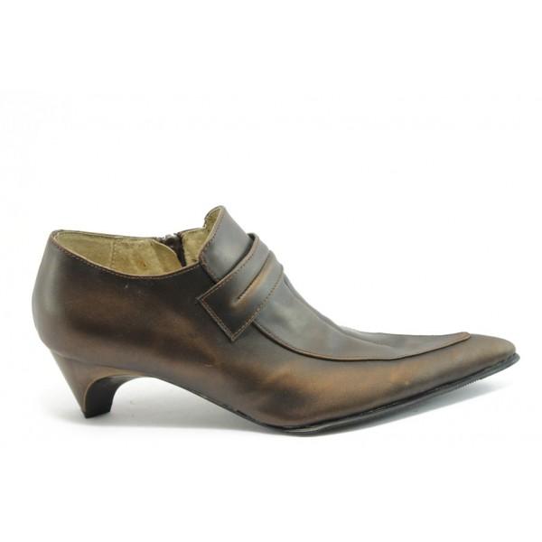 Дамски затворени обувки от естествена кожа ИЗ 2428