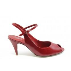 Дамски обувки от естествена кожа ФЯ 6014015 червен