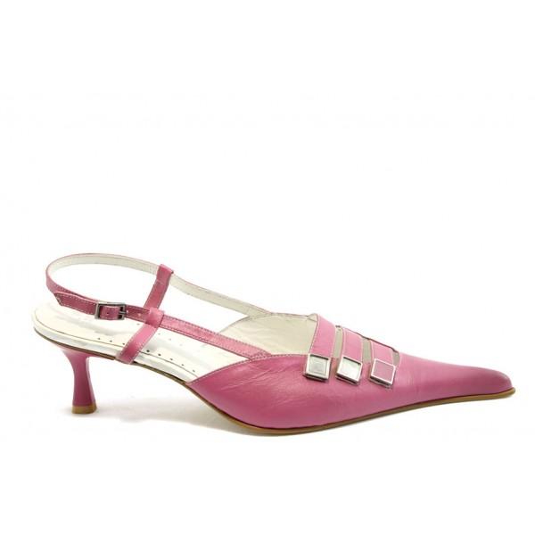 Дамски обувки от естествена кожа ИС 594 розови
