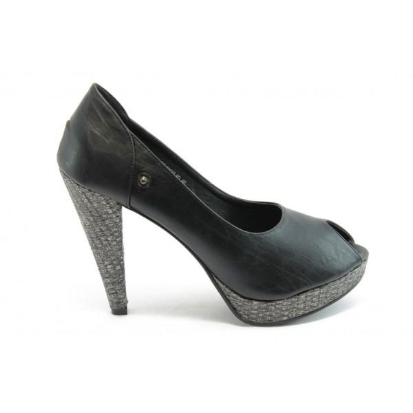 Атрактивен модел дамски обувки ФР 70633 черни