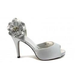Дамски обувки на висок ток ФР 789-2 сиви