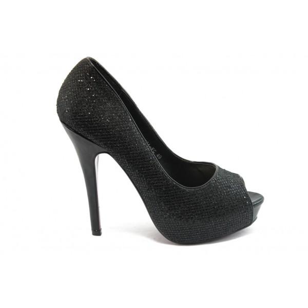 Дамски обувки на висок ток ФР 8774 черни