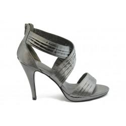 Дамски сандали на висок ток КП Z6 сиво