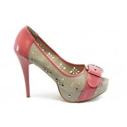 Дамски обувки на висок ток XS 2747 розови