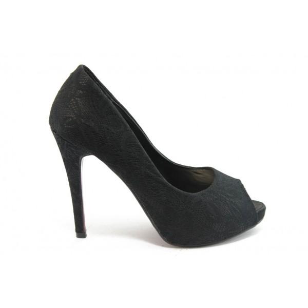 Дамски обувки на висок ток ФР 5745 черни