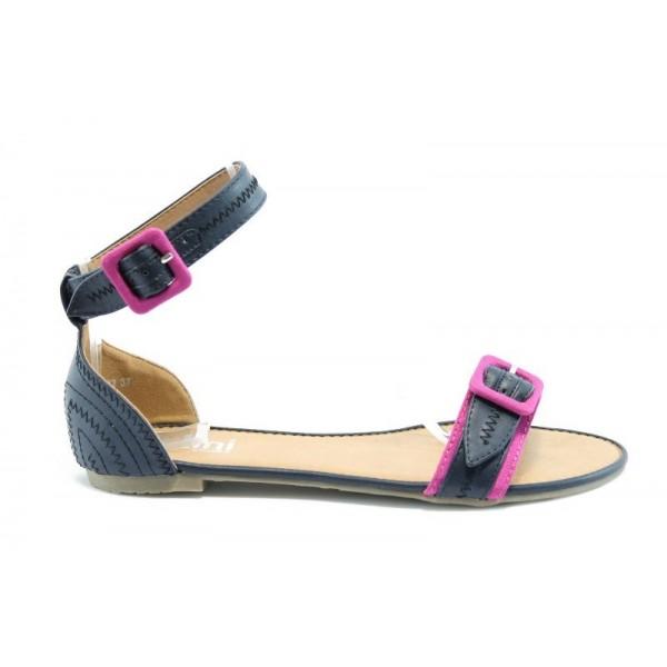 Равни дамски сандали ПИ1132Черен