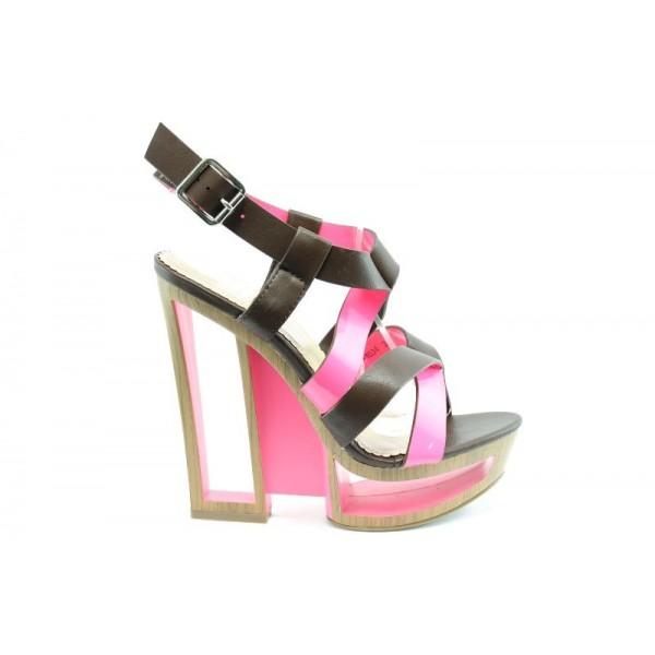 Дамски сандали на ток ПИ 1034 Розов
