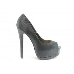 Дамски обувки на висок ток ПИ 1035Черен