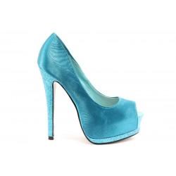 Дамски обувки на висок ток ПИ 1035СИН