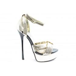 Дамски сандали на висок ток ПИ 1032СИВ