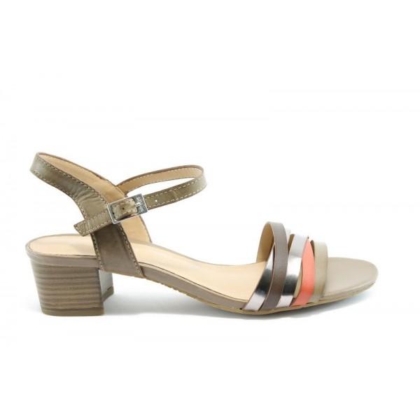 Немски сандали на ток S.Oliver 28224БЕЖ
