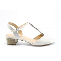 Немски сандали на ток S.Oliver 28225БЯЛ