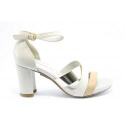 Немски сандали на ток Tamaris 28051БЯЛ ANTISHOKK