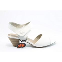 Немски сандали на ток Jana 28303БЯЛ