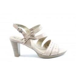 Немски сандали на висок ток Caprice 28310Розов ANTISHOKK