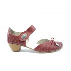 Немски обувки на ток Rieker 41796Червен