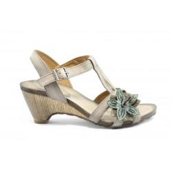 Дамски сандали на ток ИО 1389БЕЖ