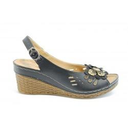Равни дамски сандали Jump 7030 Черен