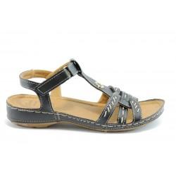 Равни дамски сандали Jump 6805 Черен