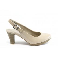 Дамски обувки на ток с отворена пета Jana 29661беж